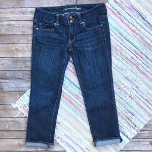 American Eagle Cropped Artist Jeans Dark Wash
